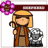 Shepherd Digital Clipart (color and black&white)
