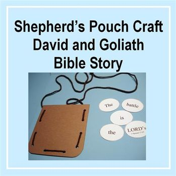 Shepherd S Pouch Craft David And Goliath Bible Story By Chicky S Nest