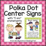 Sherbert Polka Dot Center Signs