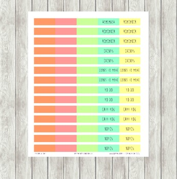 Sherbet Color Themed Printable Planner Labels
