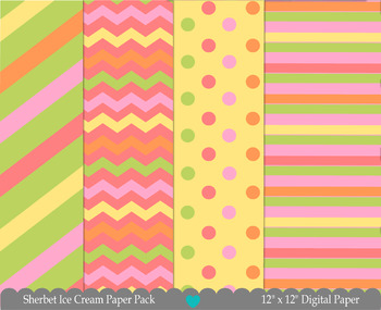 Sherbet Ice Cream Paper Pack