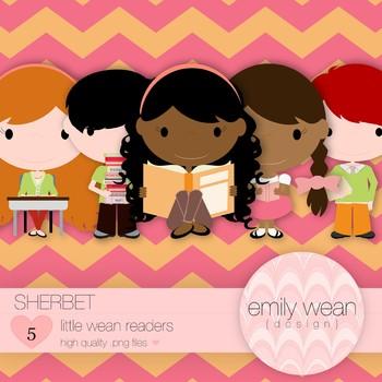Sherbet - Little Readers Clip Art