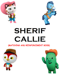 Sherif Callie Matching and Reinforcement Book (Speech, Autism)
