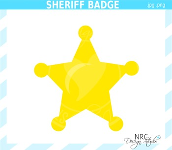 Sheriff Badge Clip Art - Commercial Use Clipart