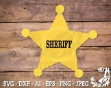 Sheriff Badge SVG, Instant Download, Vector Art, Commercial Use SVG, Silhouette
