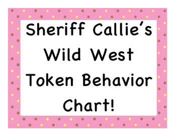 Sheriff Callie's Wild West Token Behavior Chart!