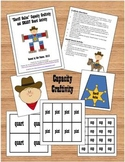 """Sheriff Gallon Man"" Capacity (Measurement) Craftivity and SMART Board Activity"