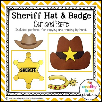 Sheriff Hat & Badge Cut and Paste