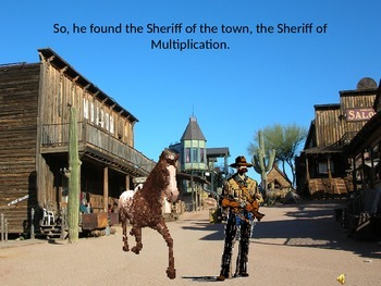 """Sheriff and Cowboy on a Horse"" powerpoint for Mixed Numbers"