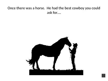 """""""Sheriff and Cowboy on a Horse"""" powerpoint for Mixed Numbers"""