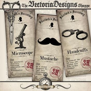 Sherlock Holmes Inventory Labels
