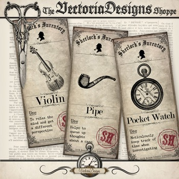 Sherlock Holmes Inventory Mini Posters