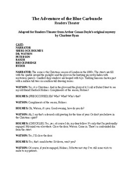 Sherlock Holmes Readers Theater - Blue Carbuncle