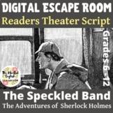 Sherlock Holmes - Short Story Unit-Reader's Theater Script