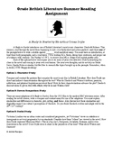 Sherlock Holmes Summer Reading Assignment A Study in Scarlet