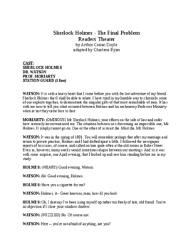 Sherlock Holmes - The Final Problem - Readers Theater