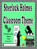 Sherlock Holmes Theme Classroom Decor ( Soft Green)