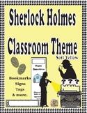 Sherlock Holmes Theme Classroom Decor ( Soft Yellow)