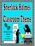 Sherlock Holmes Theme Classroom Decor ( Turquoise)