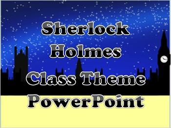 Sherlock Holmes Theme PowerPoint ( Soft Yellow)
