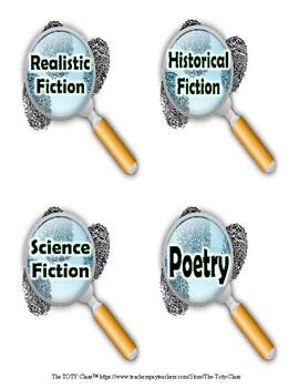 Sherlock Holmes Theme ( Soft Green) Book Bin Labels