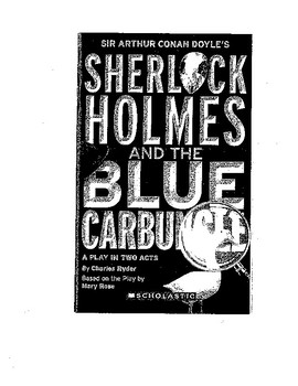 Sherlock Holmes and the Blue Carbuncle Close Reading Handout for Students-Play