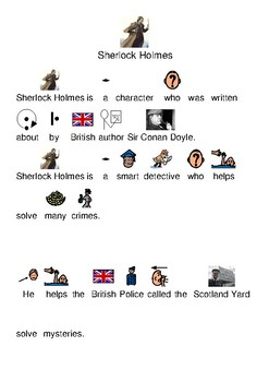 Sherlock Holmes - picture supported text history visuals questions