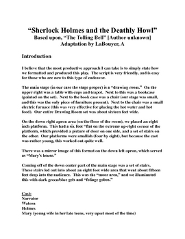 """""""Sherlock Holmes & the Deathly Howl,"""" A Script [Theater Scripts]"""