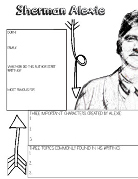 Sherman Alexie Author Study, The Absolutely True Diary of a Part Time Indian