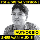 Sherman Alexie Author Study Worksheet, Easy Alexie Biograp