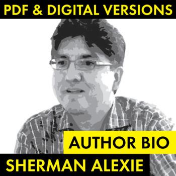 Sherman Alexie Author Study Worksheet, Easy Biography Acti