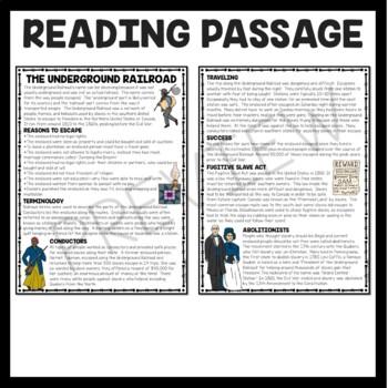 Underground Railroad - Activity Sheet by Trina Robbins