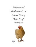 Sherwood Anderson's The Egg Reading Comprehension Quiz with Key