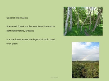 Sherwood Forest - England Power Point - Information Facts Pictures