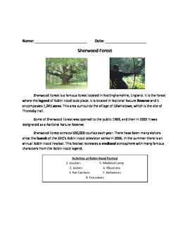 Sherwood Forest - Review Article Facts Information Questio