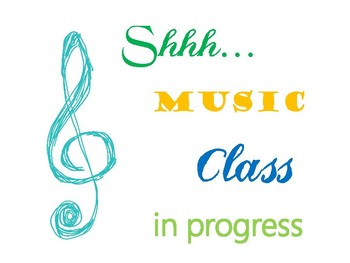 Shh... Music Class in progress