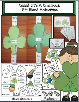 shhh it s a shamrock sh blend activities by teach with me tpt