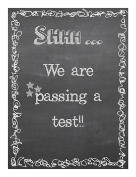 Shhh- we are passing a test