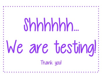 Shhh we are testing!