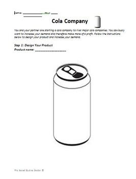 Shifters of Supply/Demand (Cola Company)