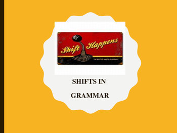 Shifts In Grammar: Person, Number, Tense, Mood, Voice