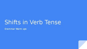 Shifts in Verb tense quick lessons