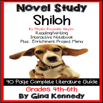 Shiloh Novel Study & Enrichment Projects Menu