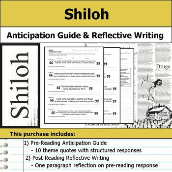 Shiloh - Anticipation Guide & Reflection