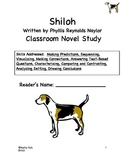 Shiloh Classroom Novel Study