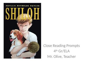 Shiloh Close Reading Prompts
