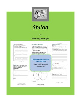 Shiloh Complete Literature and Grammar Unit