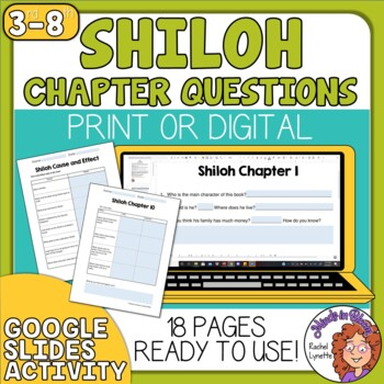 Rare image with shiloh worksheets printable