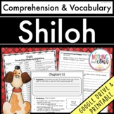 Shiloh: Comprehension and Vocabulary by chapter Distance Learning