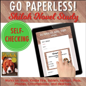 Google Classroom™ Shiloh Novel Study Self-Checking Digital